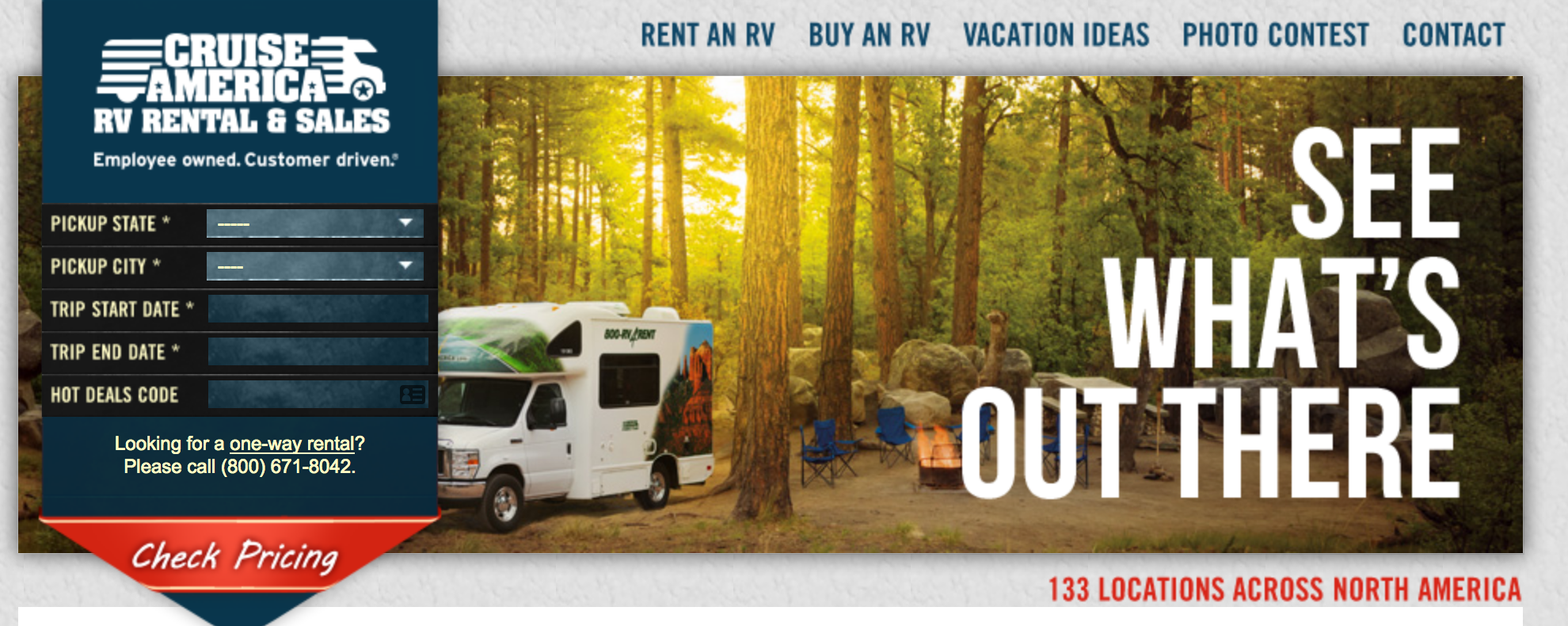 rv rental and sales cruise america