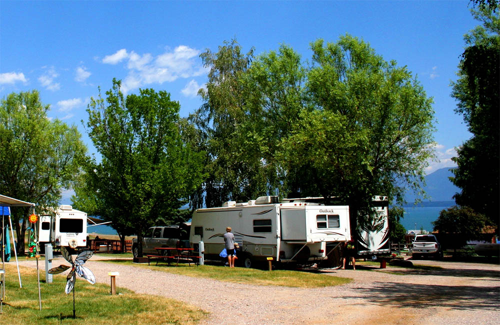 rv camping lake flathead Polson Montana