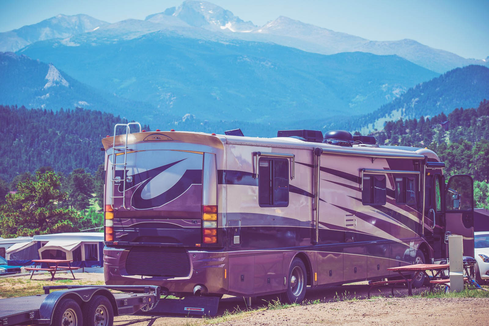 travel in class a motorhome