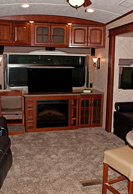 inside view of an RV
